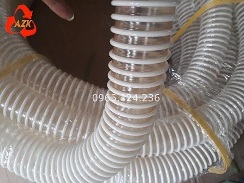 Ống nhựa gân màu trắng hút bụi công nghiệp