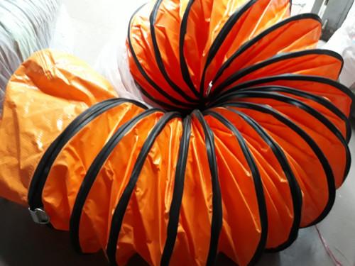 Ống gió vải bạt màu cam phi 500