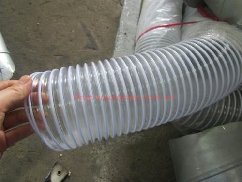 ống hút bụi lõi thép màu trắng