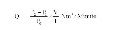 tính lưu lượng khí nén qua đường ống